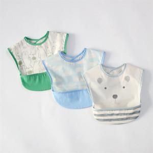 cotton Baby Bibs Newborn saliva towel waterproof bibs kids feeding cloth cover baby sleeveless reverse clothing