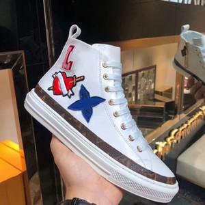 Фирменные женщины звездная кожа кроссовки загрузки дизайнер Леди холст сторона Zip плоские резиновые подошва Привет топ Повседневная обувь 38-41