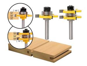 2 قطع اللسان الأخدود 8 ملليمتر عرقوب راوتر بت مجموعة طحن القواطع للخشب القاطع الأرضيات لوحة أدوات النجارة