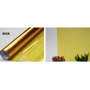 Vidro decorativo colorido filme PET película de isolamento protetor solar à prova de membrana vermelho bi-color transparente janela adesivos