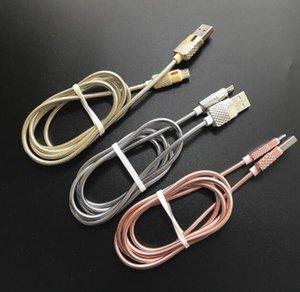 Cable de carga de acero inoxidable con resorte de acero 2A de carga rápida Micro 5pin de sincronización de datos usb para samsung s6 s7 edge htc android