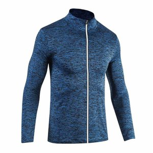 2018 Uomini in esecuzione Giacche Fitness Sport Coat Calcio Training Gym Sottile traspirante Quick Dry WomenSport Coat