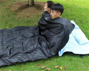야외 캠핑 하이킹 더블 맨 남자 연인들은 두 베개와 함께 슬리핑 백 Autumn Winter Thermal Bag 베스트 핫 세일 110at dd