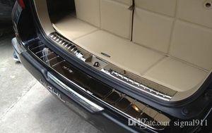 Высокое качество нержавеющей стали 2 шт. (внутренний+внешний)автомобиль задний багажник потертости пластины, задние ворота гвардии пластины для Toyota Highlander 2009-2014