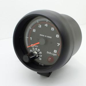 3.75 '' RPM Tachymètre Tacho Gauge Auto Voiture Compteur Lumière Noir DC 12 V 2017 POUR 12V véhicules à essence