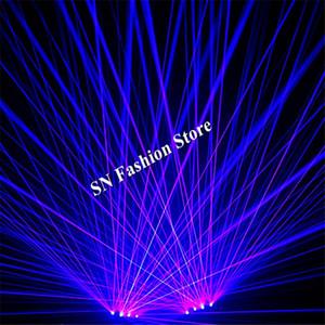 GP03 Viola blu laser fascio di luce guanti dj disco spettacolo di scena porta teste laser party bar cantante laser uomo spettacolo sala da ballo costumi club ktv