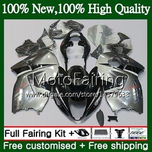 Body For SUZUKI Hayabusa GSXR 1300 02 03 04 05 06 07 56MF80 GSX R1300 GSXR-1300 GSXR1300 96 97 98 99 00 01 New silvery Fairing Bodywork
