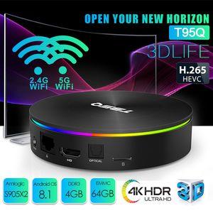 T95Q Android 8.1 TV Boxes S905X2 4GB 32GB / 64GB dual Wifi 2.4G + 5.8G Bluetooth 4.1 4K PK Chromecast