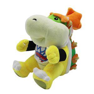 Super Mario Bowser Koopa JR en peluche Peluches Poupées en peluche Anime Koopa Jouets pour bébé 18 cm pour enfants Cadeaux Super Mario Bowser Koopa jouet JR