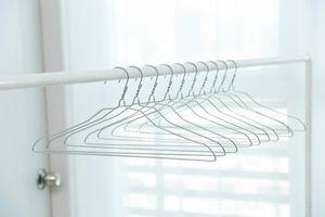 Novela de acero inoxidable perchas de alambre de la galjanoplastia estante de ropa portátil para traje de ropa pantalones falda camisa de vestir abrigo airer robusto 0 35hy cc