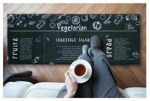 45 * 118cm noir long tapis de sol paillasson anti-dérapant moderne tapis de cuisine tapis - salon balcon salle de bain chambre tapis