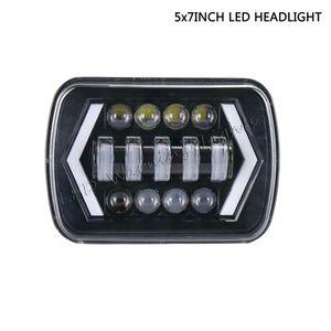 freies Verschiffen 2pc 5x7 6x7 45W LED-Scheinwerfer-Lampe Kit für LKW Offroad LJ klassischen Schwerlastanhänger Bergbau
