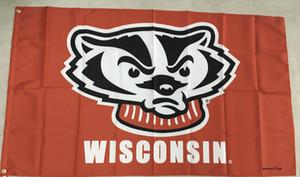 GX-Flagge geben Verschiffen frei Wisconsin kennzeichnet Fahne 3X5 FT 90 * 150CM Polyster-Flagge im Freien