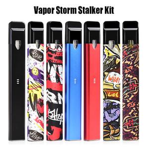 Vapor Storm Stalker Kit Ecig Starter Kit 400mAh Pocket Kit portatile Dispositivo Pod 1.8ml Refillable Empty Cartridge Vape Pen originale Vfire