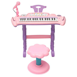 Pink 37 Key Kids Electronic Keyboard Piano Organ Toy / Micrófono Música Play Kids Regalo educativo para niños