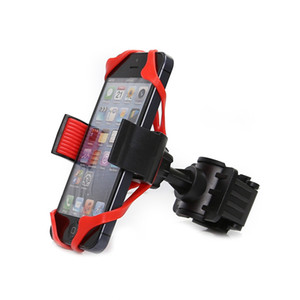 360 Degree Adjustable Bicycle Phone Holder Motorcycle Bike Handlebar Universal Smartphone Mount for Bike GPS Navigation (Not include mobile)