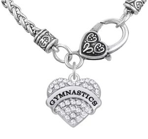 Engrave Letter GYMNASTICS Ohrringe Armband Anhänger Halsketten Anhänger Charms Schmuck