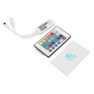 Edison2011 الهاتف الذكي البسيطة تحكم WIFI RGB LED RGBW تحكم + 24 مفاتيح IR عن بعد للوضع LED مصباح قطاع مزامنة الموقت الموسيقى