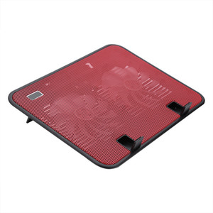 "Freeshipping Super silencioso Laptop Cooler Cooling Pad Base USB 2 Ventiladores Stand para 10 ""a 14"" Notebook"