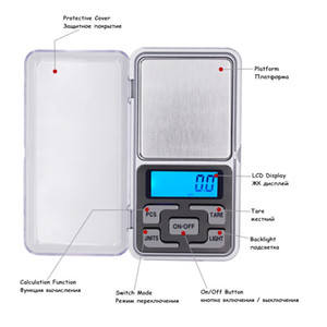 DHL Fedex0.01g에 의해 200pcs / lot 소매 상자 200g LCD 디지털 포켓 무게 쥬얼리 균형 규모 공장 가격