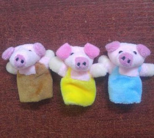 New Arrival Little Pigs Finger Puppet Children Educational Fairy Tale Story Telling Plush Figer Toy