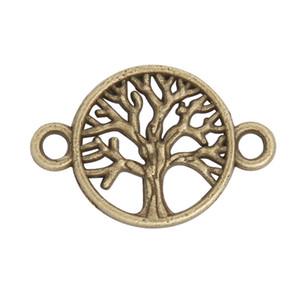 En ligne de gros mode antique bronze plaqué arbre charmes de connecteur pour les bracelets faisant 16 * 24mm AAC1519