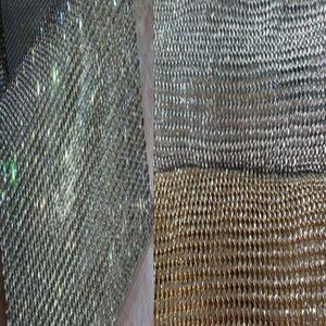 22x20cm Jolie Bling Bling Glitter Pleine Rhienstone Métal Tissu Maille Tissu Métallique Métal Sequin Paillettes Tissu Décoration de La Maison