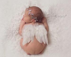 Única fotografía infantil Alas de Ángel Conjunto Pluma Mariposa Alas + Diadema de la hoja establece bebé recién nacido Props Fotografía Niñas Accesorios