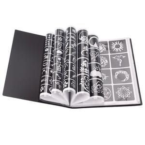 17 Blatt 264 Karten professionelle wasserdicht Henna Tattoo-Schablonen Temporäre Glitter Airbrush Tattoo Hand Finger Zeichnung # 242095