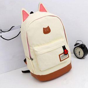 귀여운 고양이 귀 만화 캔버스 배낭 소녀 Satchel 학교 가방 배낭 숄더 가방 9 색상