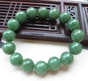 Certificado Tipo A Jadeite Bangle Grade A Green Jade Beads Bangle Bracelet 13mm