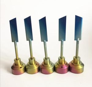 미니 컬러 레인보우 네일 티타늄 탄수화물 캡 GR2 티타늄 손톱 탄수화물 캡 돔형 곡선 나이프 칼 흡연 도구 전자 담배