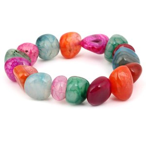KMVEXO 7 Chakra Bracciale Sette Chakra Bracciale Energia Mala Perline Bracciali in Pietra Naturale Irregolare per Donna Mens Gioielli Yoga