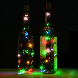10 LED 8 LED Солнечная бутылка вина пробка медь Glow Party Supplies Cork Shaped String Light LED Night Fairy Light