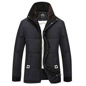 OLN Winterjacke Männer Fleece dicke warme Jacke mit Kapuze Parkas Männer gepolsterte Winter lässig Kapuzenmantel 4XL