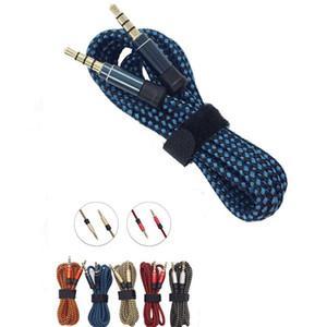 Unbroken Metall Nylon Geflochtene Audiokabel 1.5M 5FT 3.5mm Runde Stecker Stereo Auxiliary AUX-Erweiterung für Handy MP3-Lautsprecher Tablet PC