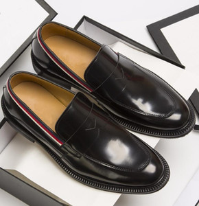 2019 new Gentleman Party Bussiness Dress Slip On Loafers Shoes Genuine Leather Oxford Luxury Men's Leisure Fashion Flat Shoes38-45 00042