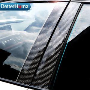 Toptan Karbon Fiber Araba Pencere B-pillar Kalıp Trim Araba Styling Etiketler BMW 3 5 Serisi E90 F30 F10 E60 e70 e46 F07 Aksesuarları