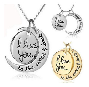 2018 Collana Moon Necklace I Love You To The Moon e Back For Lover