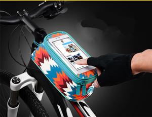 ROSWHEEL BICYCLE BAGS CYCLISME BIKE FRAME IPHONE BAGS SUPPORT PANNIER TÉLÉPHONE MOBILE SAC CASE POUCH Accessoires vélo WS-55