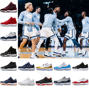 2018 11 Scarpe da pallacanestro Low Lower Uomo Donna Blue Sports Relo 11s XI Bred Space Jam Heiress Concord Uomo China Spring Sneaker Velluto Heiress