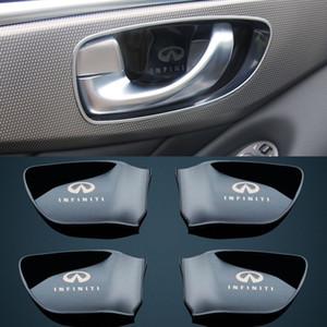 4 pcs interior interior maçaneta da porta tigela tampa decoração guarnição para Infiniti Q50 QX60