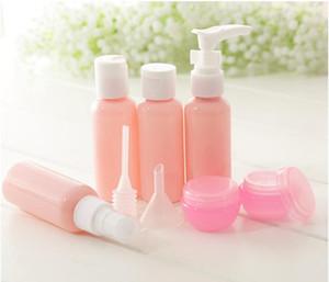 Nueva Llegada Conjunto de Botellas Recargables Paquete de Viaje Botellas de Cosméticos Botella de Spray de Presión de Plástico Kit de Herramientas de Maquillaje