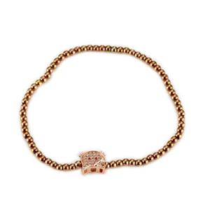 Rose Gold Daisy Love Herz Katze Bär Schmuck Set für kleine Mädchen Halskette Ohrringe Armband Armreif für Frauen und Mädchen