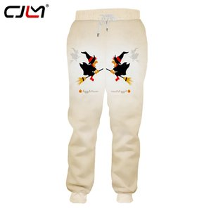 CJLM Men's Clothing New Arrivals Halloween Sweatpants 3D Broom Witch Pants Printed Chinese Style Trousers Big Size 5XL
