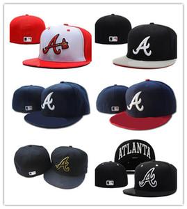New Design Cappellino aderente cappellino cappello Atlanta Cappellino Team Baseball ricamato Cappellino piatto Cappellino Baseball Marca