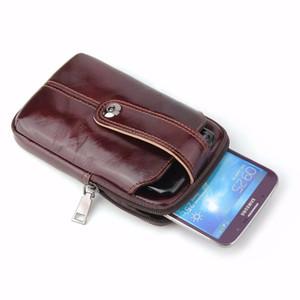 Cinturón de cinturón Cinturón de cuero de vaca original Estuche para teléfono móvil para HTC U12 life / U11 Eyes / U11 Life / U11 + / U Play / U Ultra, Desire 12 Plus / 12 +