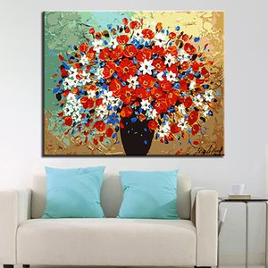 Colorful Flower Picture DIY Painting By Numbers Landscape Picture By Number For Adults Wall Art Decors Handpainted Diy Gift