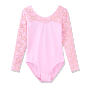 BAOHULU Girls Ballet Body Ginnastica Lovely Candy colori Ragazze Lace maniche lunghe Balletto Dress Ginnastica Body acrobatica