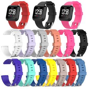 Fitbit Versa Smart Watch 용 대체 실리콘 고무 밴드 스트랩 팔찌 팔찌 작거나 큰 크기